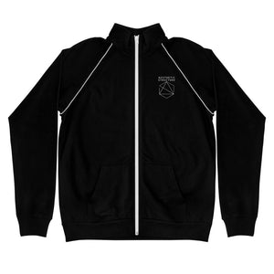 Aesthetic Structure Sharp Piped Fleece Jacket