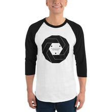 Load image into Gallery viewer, Aesthetic Structure PORTAL Black/White 3/4 Sleeve Raglan Shirt