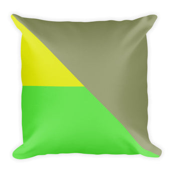 Green Contrast Accent Pillow