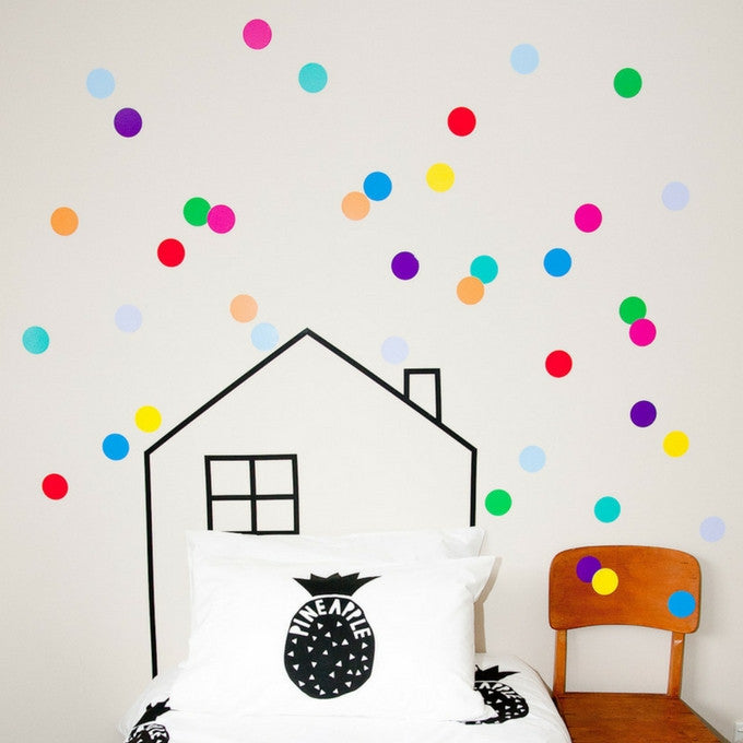 large polka dots | wall decals | fruit salad | wall stickers | nz