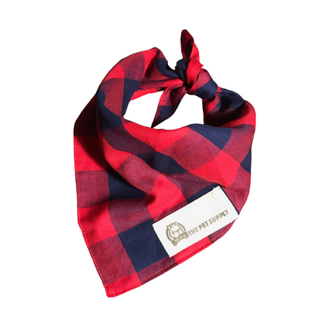 Bella B. Dog Bandana (Red Flannel)