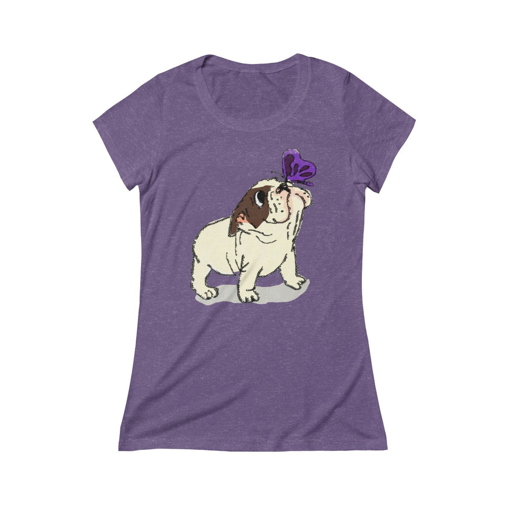 French Bulldog Triblend Short Sleeve Tee