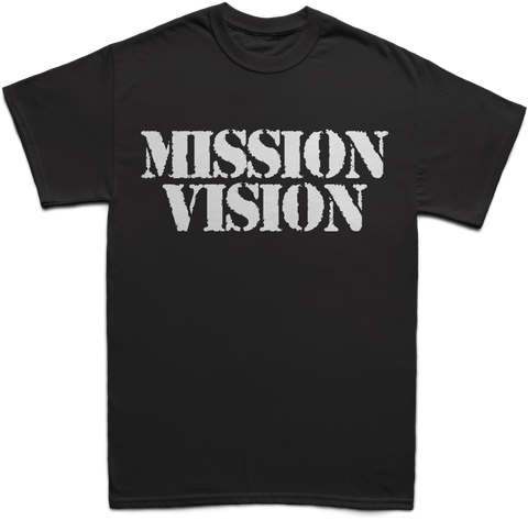 Mission Vision Logo Tees - Black and White