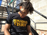 Mission Vision Logo Tees - Black and Gold
