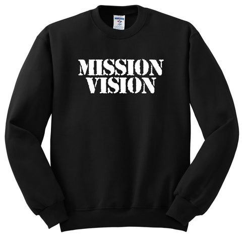 Mission Vision Crew Neck - Black & White