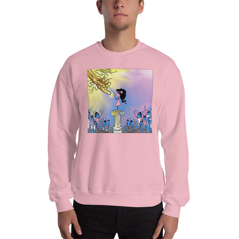 God and Girls | Graphic Crew Neck Sweatshirt | Pink