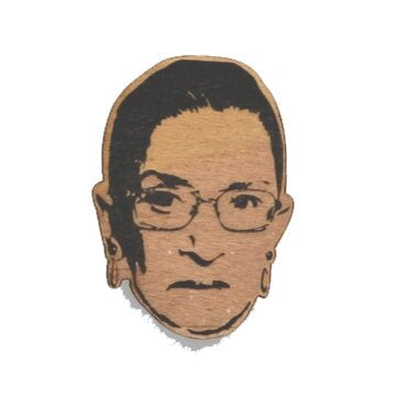 Famous Face Laser Cut Wood Ornament