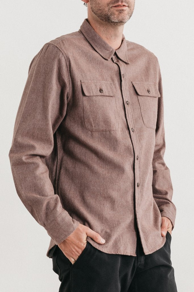 Bedford Copper Twill Button Down Shirt