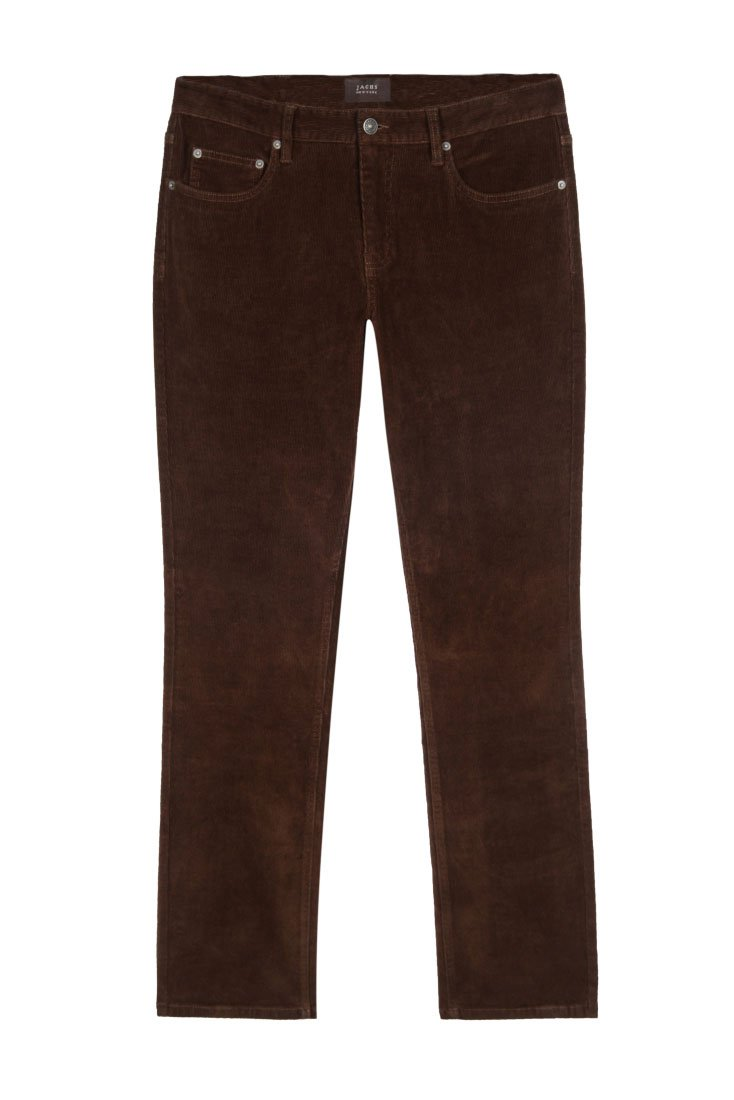 Brown Stretch Corduroy Pant