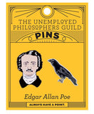 Edgar Allan Poe & The Raven Pins (set of 2)