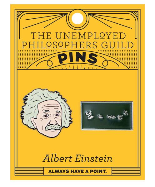 Albert Einstein & E=mc2 Pins (set of 2)