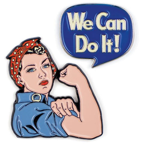 Rosie & We Can Do It Pins (set of 2)