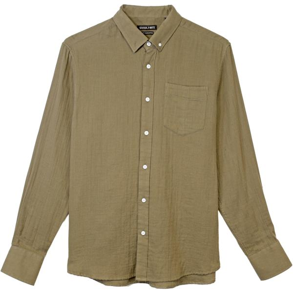 Gauze Long Sleeve Button down