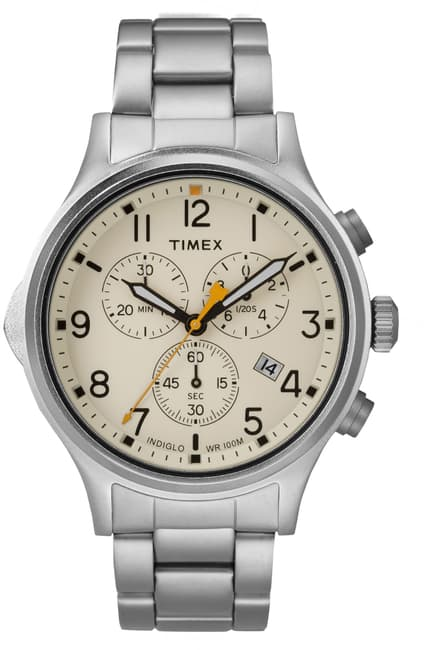 Allied Chronograph 42mm Stainless Steel White Dial Watch