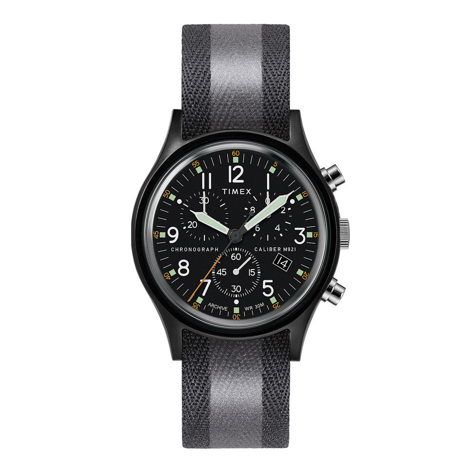Timex Archive MKi Aluminum Chronograph  Watch - 40mm Black/Black