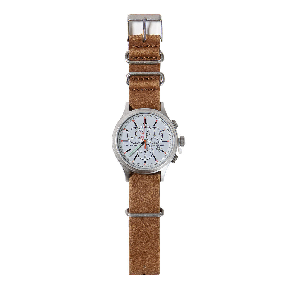 Timex Archive Allied Chronograph  Watch - 42mm Stainless Steel / Pearl white