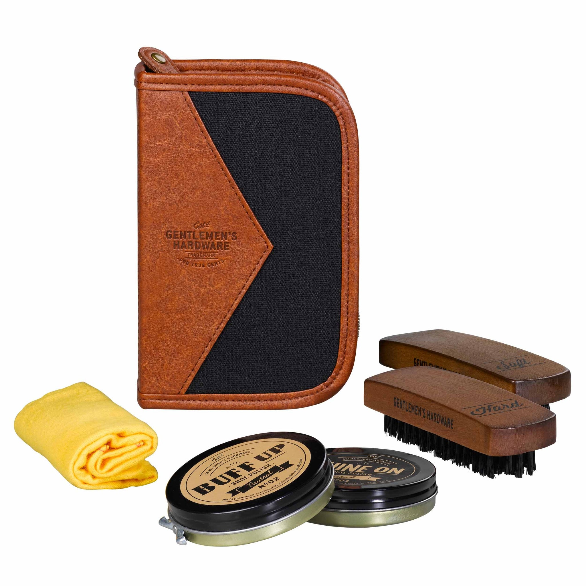 Shoe Shine Kit -Charcoal