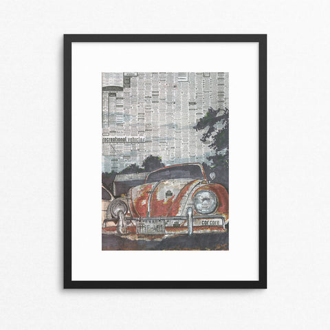 Beetle No.1  13x19 Unframed Print