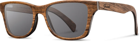 Shwood Eyewear Canby - Walnut - Grey Polarized