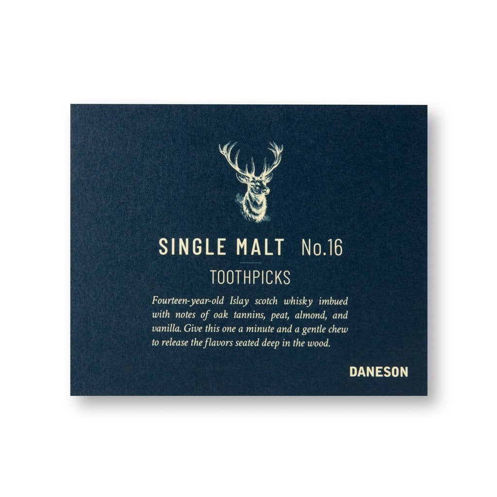 Single Malt No. 16 toothpick 12ct