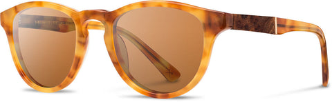 Shwood Eyewear Francis - Amber/Elm - Brown Polarized