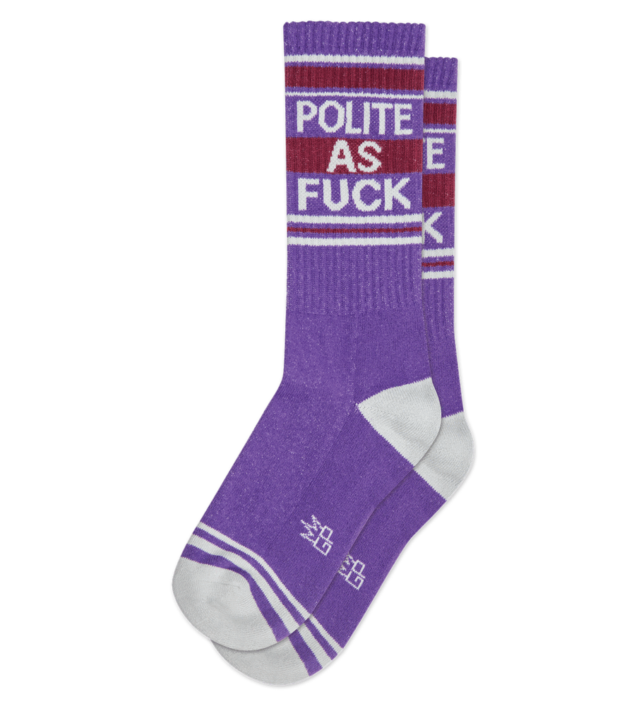 Polite as F*ck Ribbed Gym Sock
