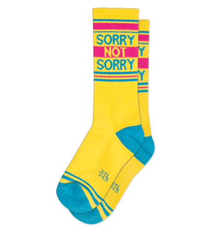 SORRY NOT SORRY Ribbed Gym Sock