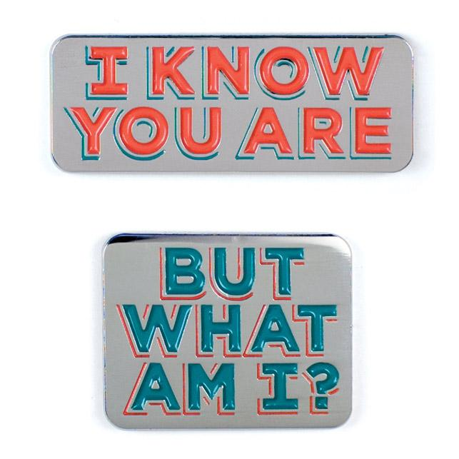 I Know You Are & But What am I Pins (set of 2)