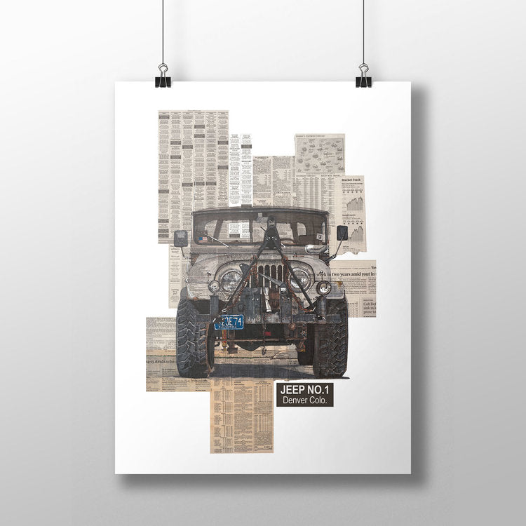 Jeep No.1 11x14 Unframed Print