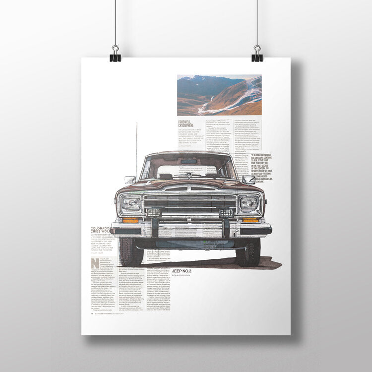 Jeep No.2 11x14 Unframed Print