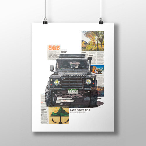 Land Rover No.1 11x14 Unframed Print