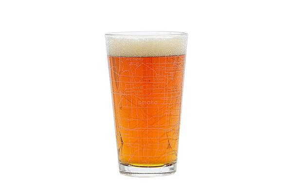 Omaha Map Pint Glass
