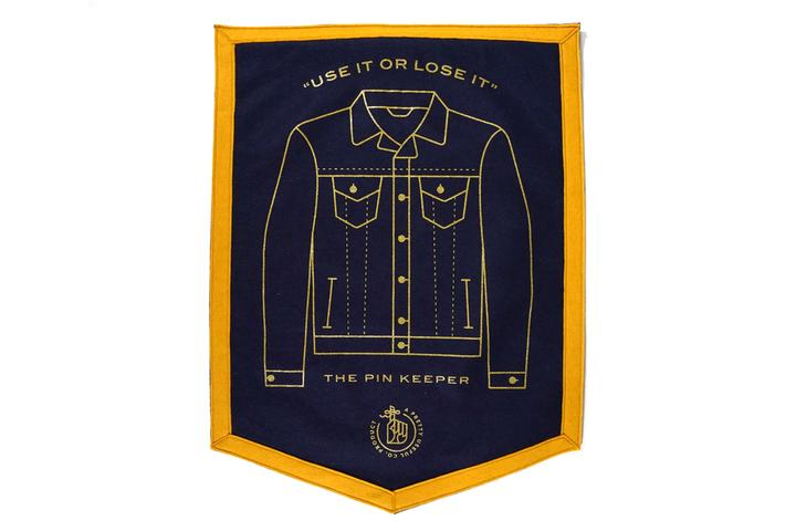 Pin Keepers Denim Jacket  Mini Banner / Camp Flag