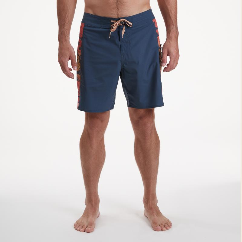 Chargers Boardshort - Navy Monstera Fade