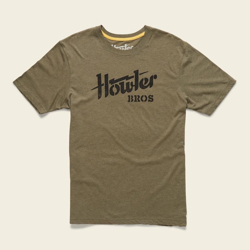 Howler Electric Stencil T-Shirt -Fatigue