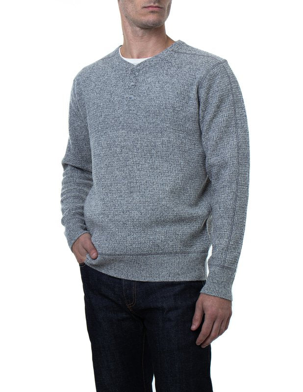 3 Button Henley Sweater
