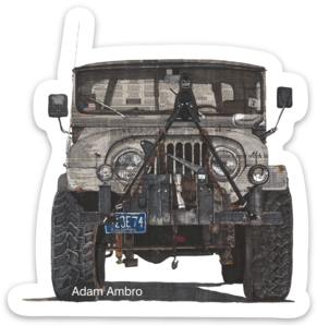 Jeep No.1  Sticker