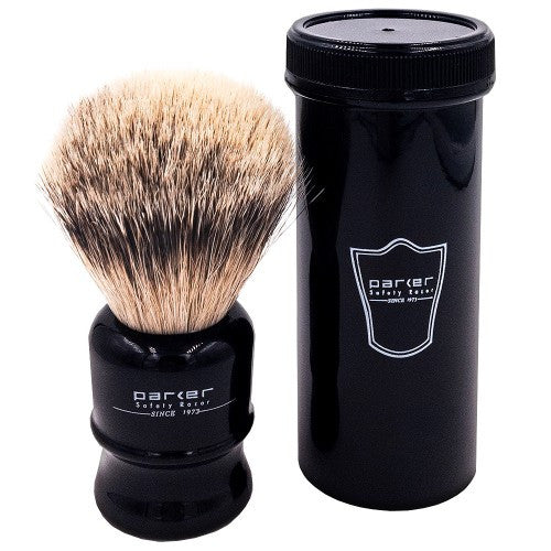 Travel Silvertip Shave Brush - Black Handle