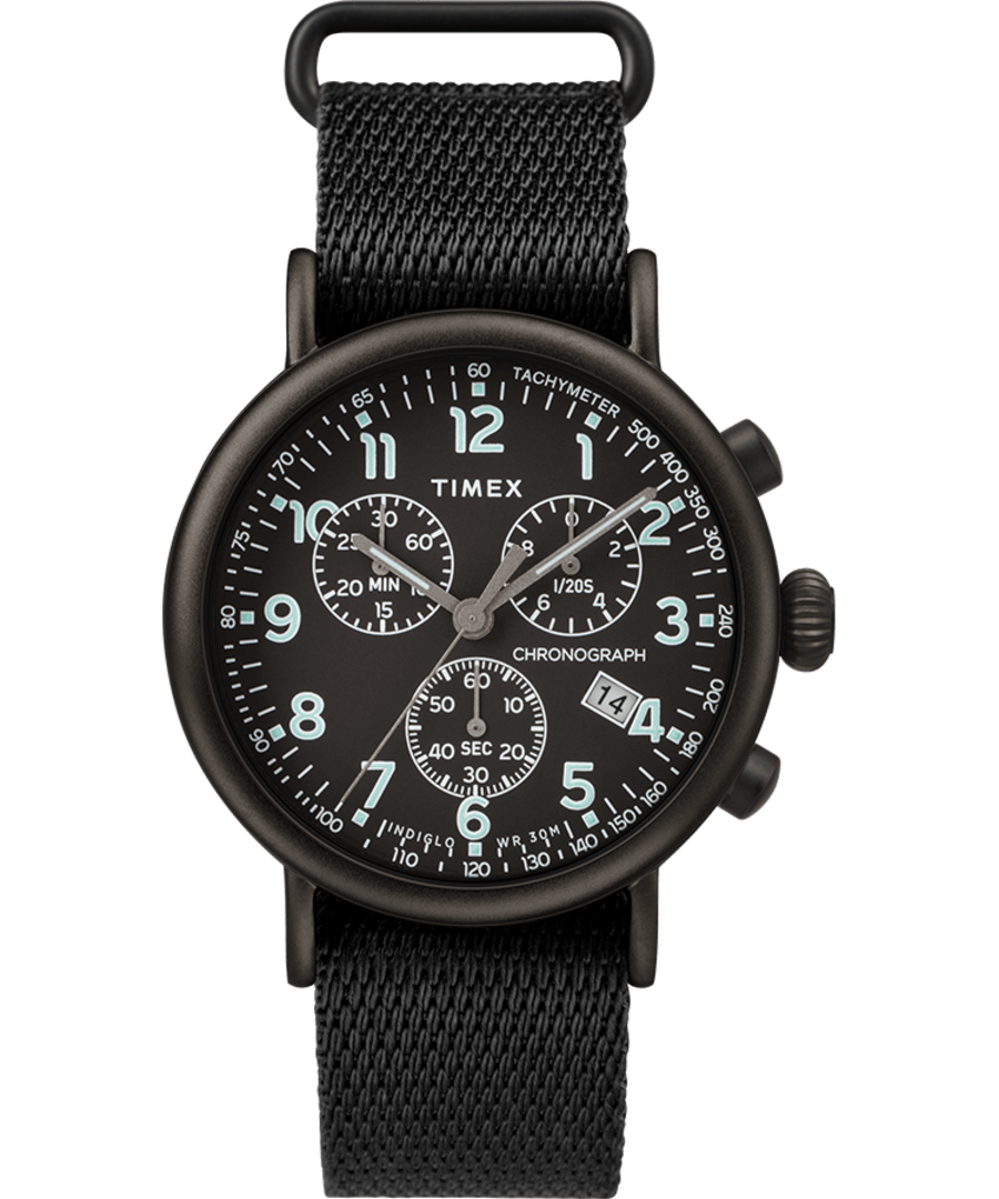 Timex® Standard Chronograph 41mm Fabric Strap Watch