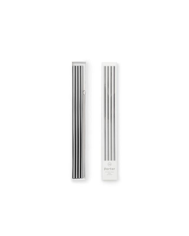 "Stainless Steel Straws - 10"" -set of 4"