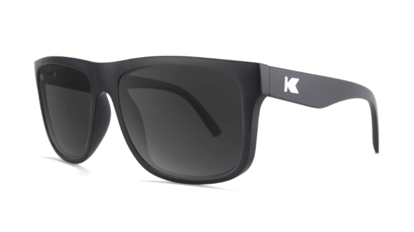 Knockaround Torrey Pines-Matte Black / Smoke- Polarized