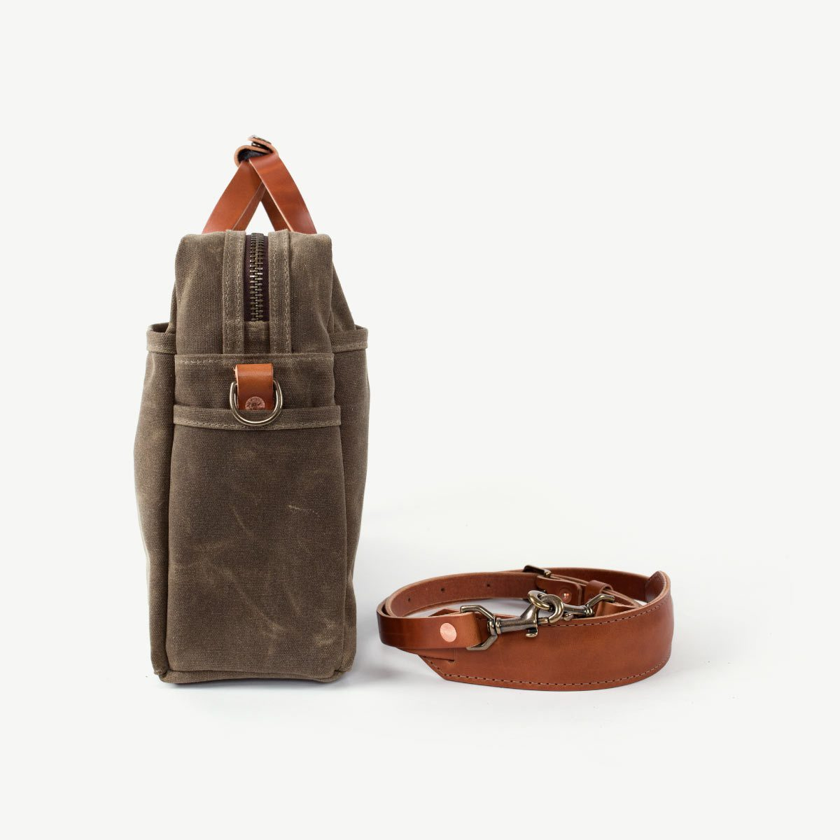 Courier Briefcase- Field Tan