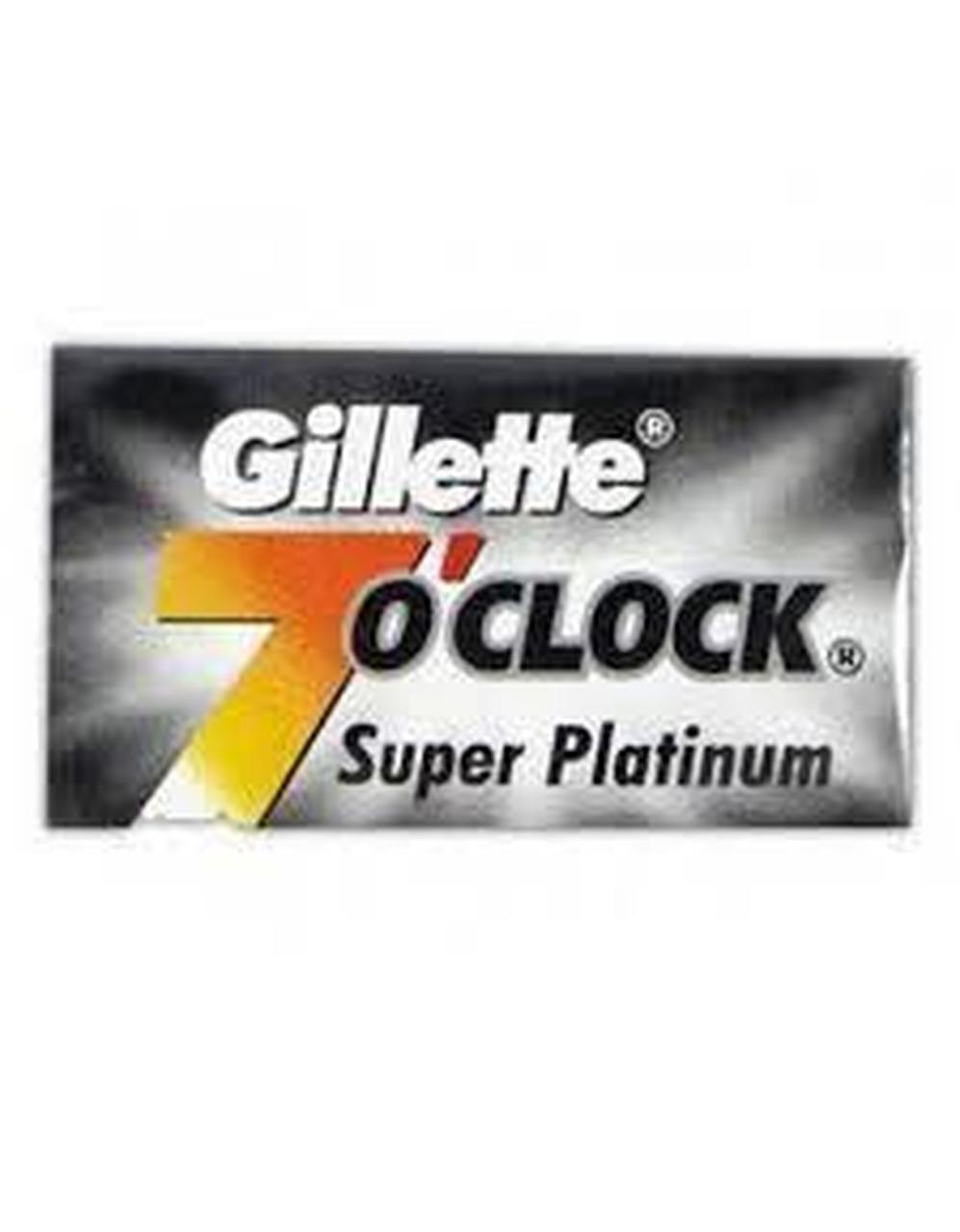 Gillette 7 O'clock BLACK Double Edge Blade 5 Ct.
