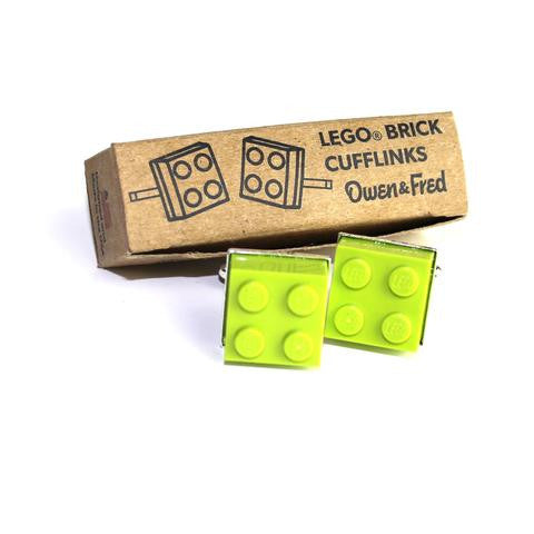 Lego Cufflinks- Lime Green