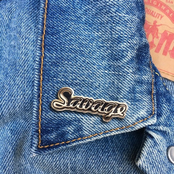 Savage Enamel Pin