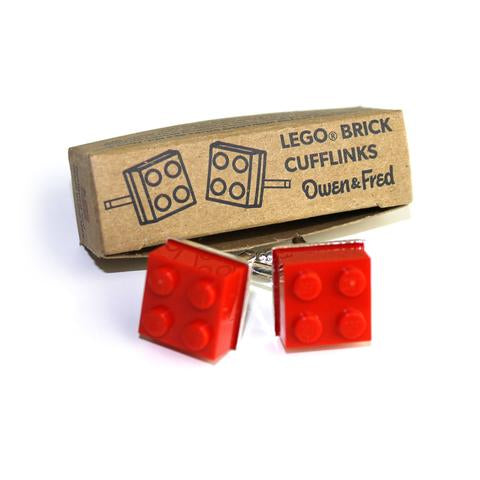 Lego Cufflinks- Red