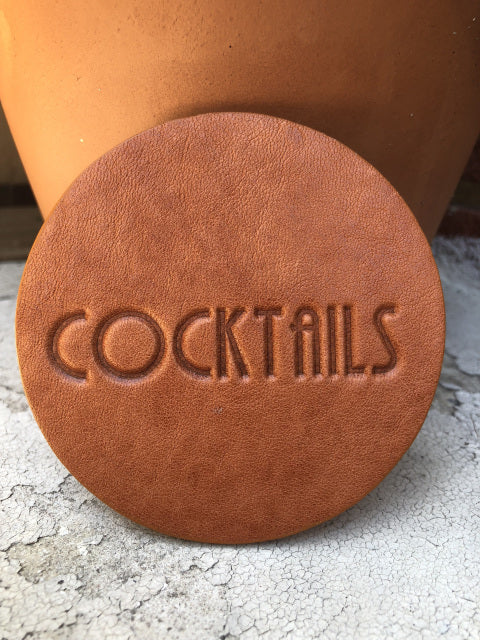 Leather Coaster -Cocktails