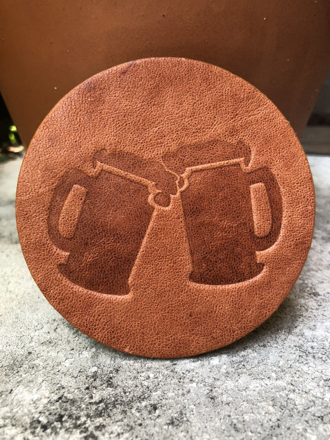 Leather Coaster -Beer Steins