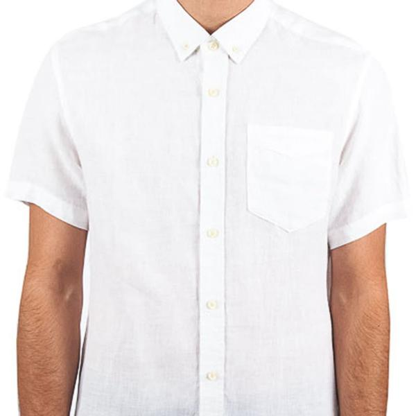 Linen Short Sleeve Button Down