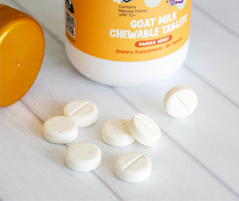 ONLY $1 Goat Milk Chewable Tablets (Manuka Honey) 60 tabs - KiwiCorp
